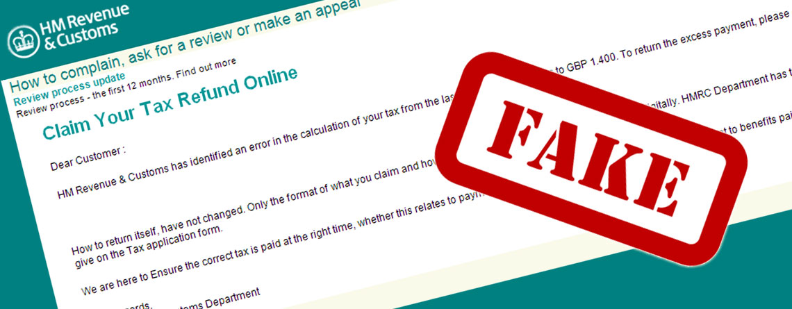 common hmrc tax refund scams